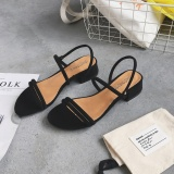 Diskon Sandal Summer Baru Dengan Sepatu Romawi Korea Fashion Style Perempuan Hitam Oem Tiongkok