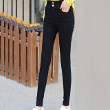 Review Terbaik Versi Korea Dari Ukuran Besar Baru Pinggang Tinggi Celana Kaki Celana Celana Kasual 928 Gesper Vertikal Model Baju Wanita Celana Wanita