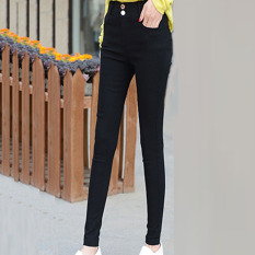 Versi Korea dari Ukuran Besar Baru Pinggang Tinggi Celana untuk Pesta Celana Kasual (928 Gesper Vertikal Model) baju Wanita Celana Wanita