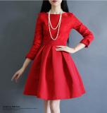 Toko Rok Tutu Dasar Wanita Warna Hitam Warna Merah Lengan Panjang Versi Korea Merah Murah Tiongkok