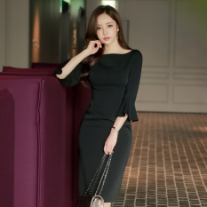 Harga Versi Korea Dari Wanita Baru Temperamen Gaun Hitam Baju Wanita Dress Wanita Gaun Wanita Oem Baru