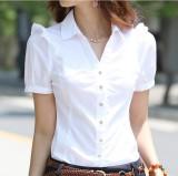Spek Versi Korea Dari Wanita Slim T Shirt Lengan Pendek Kemeja Putih Murni