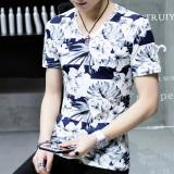 Berapa Harga Versi Korea Dari Warna Solid Lengan Pendek Pria T Shirt Musim Panas Pria Bunga Putih Oem Di Tiongkok