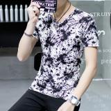 Beli Versi Korea Dari Warna Solid Lengan Pendek Pria T Shirt Musim Panas Pria Tinta Yang Bagus
