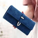 Jual In Korea Fashion Style Warna Solid Siswa Tiga Kali Lipat Dompet Model Panjang Dompet Bagian Panjang Safir Biru Oem Branded