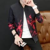 Beli Versi Korea Dari Warna Solid Pria Remaja Jaket Merah Tiongkok