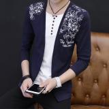 Jual T Shirt Remaja Musim Gugur Kemeja Kecil Korea Fashion Style Warna Solid D1027 Biru Baju Atasan Kaos Pria Kemeja Pria Termurah