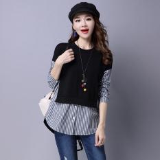 Atasan Korea Fashion Style Baru Baju Dalaman Jahitan Longgar (Hitam)