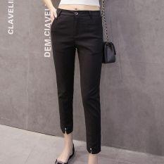 Beli Harem Celana Hitam Musim Semi Dan Musim Panas Celana Formal Korea Fashion Style Longgar Hitam Dengan Kartu Kredit