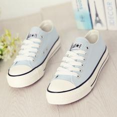 Versi Korea hitam perempuan baru sepatu Globe (Biru muda)