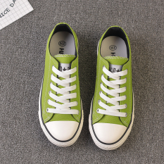 Versi Korea Hitam Perempuan Baru Sepatu Globe (Mustard Hijau)