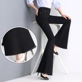 Spesifikasi Longgar Korea Fashion Style Hitam Slim Terlihat Langsing Celana Cutbray Sedikit Mirip Terompet Jeans Elegan Hitam Paling Bagus