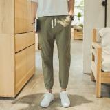 Toko Versi Korea Kapas Slim Celana Kaki Celana Panjang Hijau Tentara Online Tiongkok