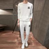 Jual Versi Korea Musim Panas Bagian Tipis Leher Bulat Olahraga Pakaian Putih Oem Grosir