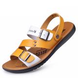 Diskon Sandal Pantai Laki Laki Baru Kasual Sepatu Korea Fashion Style Musim Panas 871 Kuning Akhir Tahun