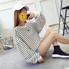 Jual Longgar Korea Fashion Style Perempuan Baru Siswa Pullover Kaos Sweater Kaos Putih Import
