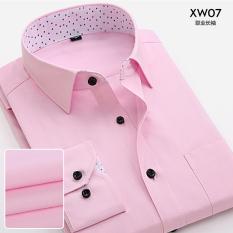 Jual Versi Korea Pria Lengan Panjang Bisnis Kemeja Profesional Kepar 7 Baju Atasan Kaos Pria Kemeja Pria Oem Di Tiongkok