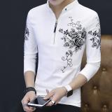 Toko Versi Korea Pria Lengan Panjang Musim Gugur T Shirt Kemeja Polo Putih Baju Atasan Kaos Pria Kemeja Pria Online Di Tiongkok