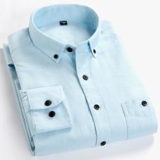 Beli Barang Kemeja Katun Kemeja Korea Fashion Style Laki Laki Lengan Panjang Pm04 Baju Atasan Kaos Pria Kemeja Pria Online