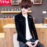 Toko Korea Fashion Style Koboi Pakaian Siswa Mantel Tipis Jeket Denim 8538 Hitam Yang Bisa Kredit