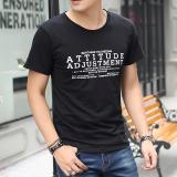 Beli Versi Korea Putih Leher Bulat Longgar Lengan Pendek T Shirt Hitam Att Kredit Tiongkok