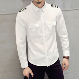 Harga Versi Korea Slim Pria Kemeja Lengan Panjang Putih Dan Spesifikasinya