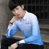 Promo Versi Korea Slim Remaja Kemeja Kemeja Abu Abu Tiongkok