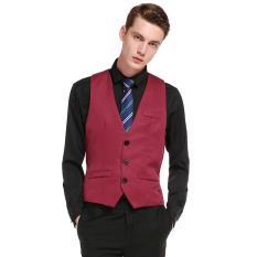 Ulasan Vest Rompi Formal Pria Merah Maroon Elegant