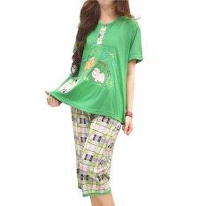 Vibelle Shop Baju Tidur Setelan 300335 - Hijau