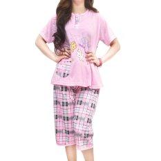 Toko Vibelle Shop Baju Tidur Setelan 300335 Pink Murah Indonesia