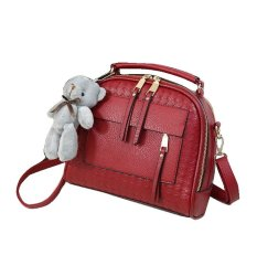 Jual Vicria 2In1 Tas Branded Wanita Limited Edition High Quality Pu Leather Korean Bag Style Merah Online Di Riau Islands
