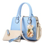 Beli Vicria Tas Branded Wanita 2In1 High Quality Pu Leather Korean Elegant Bag Style Biru Online Terpercaya