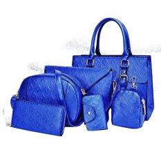 Spesifikasi Vicria Tas Branded Wanita 6In1 High Quality Women Office Korean Style Biru Paling Bagus