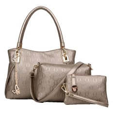 Review Vicria Tas Branded Wanita High Quality Korean Elegant Bag Butterfly Style 3In1 Emas Riau Islands