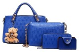 Jual Vicria Tas Branded Wanita High Quality Korean Elegant Bag Style With Wallet 4In1 Biru Vicria Murah