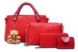 Harga Vicria Tas Branded Wanita High Quality Korean Elegant Bag Style With Wallet 4In1 Merah