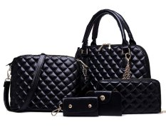 Vicria Tas Branded Wanita High Quality Korean Style 5In1 Hitam Di Riau Islands