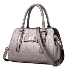 Review Vicria Tas Branded Wanita High Quality Pu Leather Korean Elegant Bag Style Silver Di Riau Islands