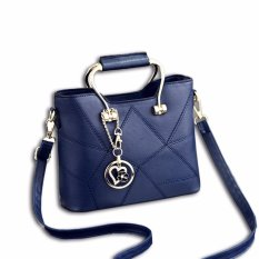 Harga Vicria Tas Branded Wanita Korean High Quality Awesome Handbag Darkblue Online Riau Islands