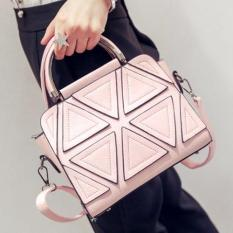 Spesifikasi Vicria Tas Branded Wanita Korean High Quality Bag Style Triangle Pink