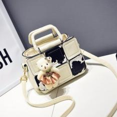 Situs Review Vicria Tas Branded Wanita Korean High Quality Cube Bag Style Beige
