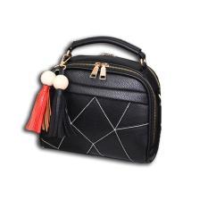 Review Toko Vicria Tas Branded Wanita Korean High Quality With Tuft Black Online