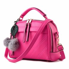 Vicria Tas Branded Wanita With Pom pom - High Quality PU Leather Korean  Elegant Bag Style 36b8cd527e