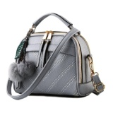 Harga Vicria Tas Branded Wanita With Pompom High Quality Pu Leather Korean Elegant Bag Style Abu Abu Vicria Asli
