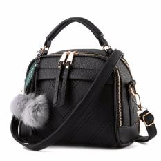 Vicria Tas Branded Wanita With Pompom - High Quality PU Leather Korean Elegant Bag Style -