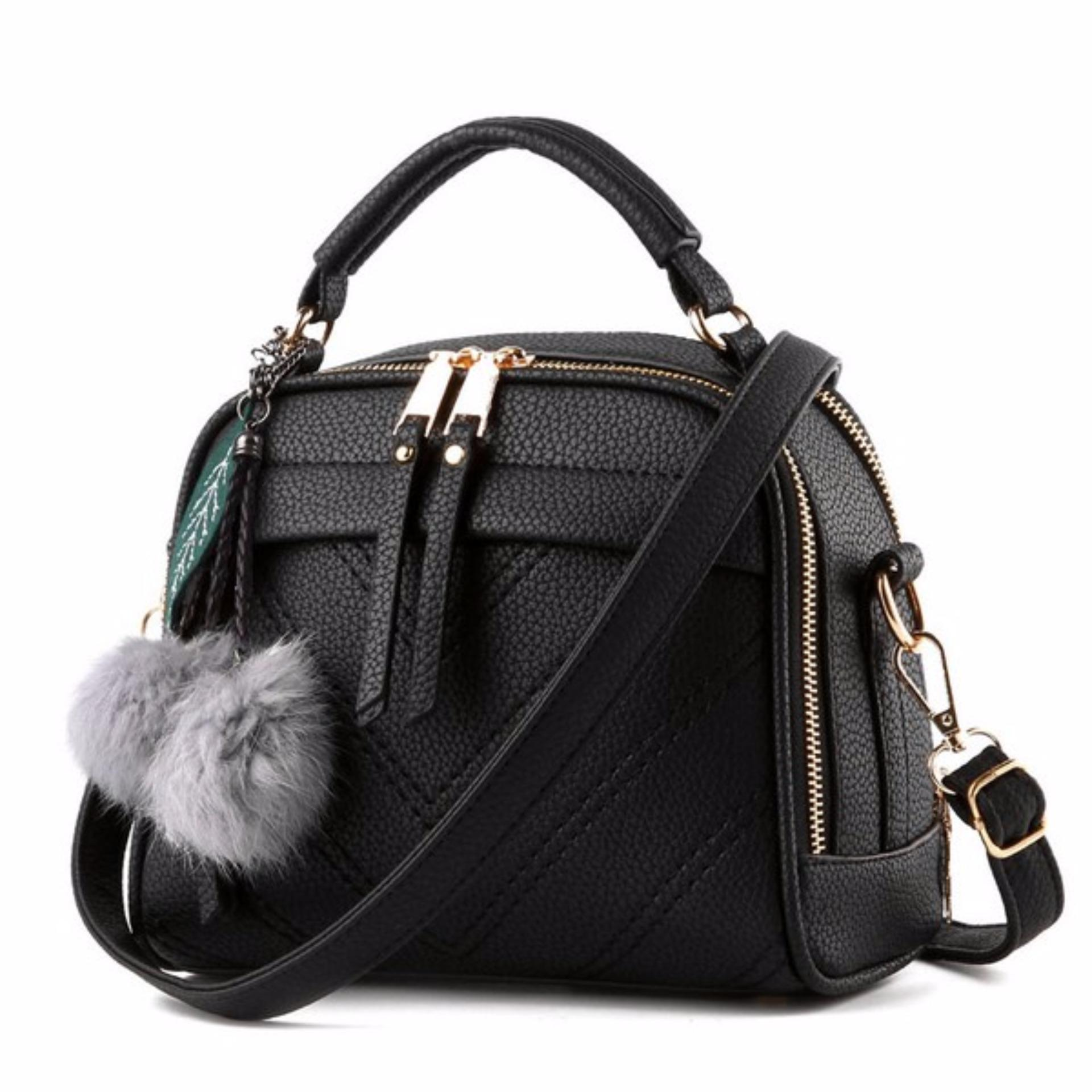 Vicria Tas Branded Wanita With Pompom - High Quality PU Leather Korean  Elegant Bag Style - 56baef9f78