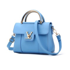 Toko Vicria Tas Branded Wanita Women Korean Elegant Bag Style High Quality Pu Leather Biru Vicria Online