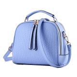 Harga Vicria Tas Branded Wanita Women Korean Elegant Bag Style High Quality Pu Leather Biru Fullset Murah
