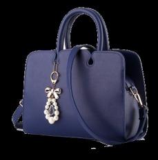Jual Vicria Tas Branded Wanita Women Korean Elegant Bag Style High Quality Pu Leather Biru Import