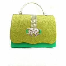 Harga Vicria Tas Pesta Wanita With Elegant Glitter Hijau Paling Murah